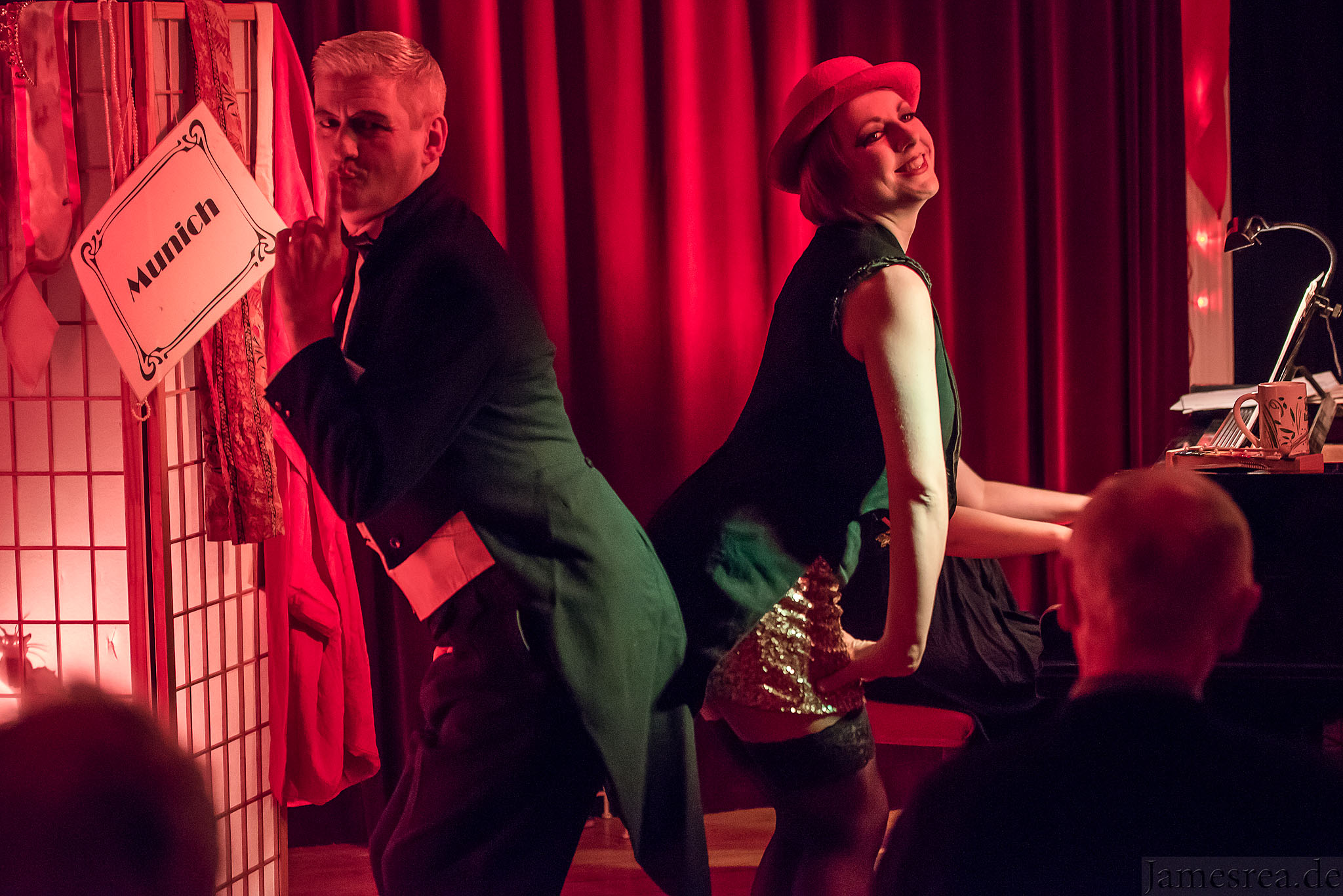 This photo was taken at A Cabaret Story at Sally Bowles Bar in Berlin.